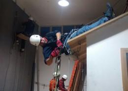 Trabajos en vertical alero
