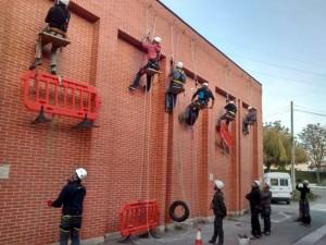 Trabajos en vertical fachada