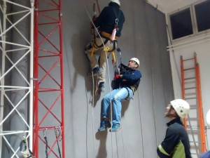 Trabajos en vertical pared