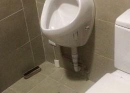 Urinario sustituyendo bidé